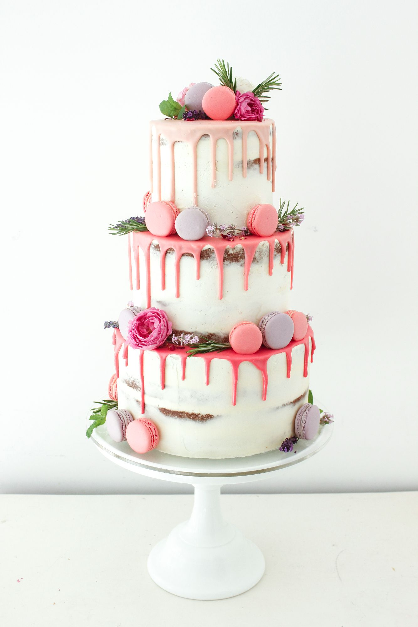 Color Drip Wedding Cake Trends