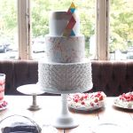 Graphic Brights Wedding Cake