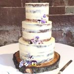 Semi Naked Viola Wedding Cake