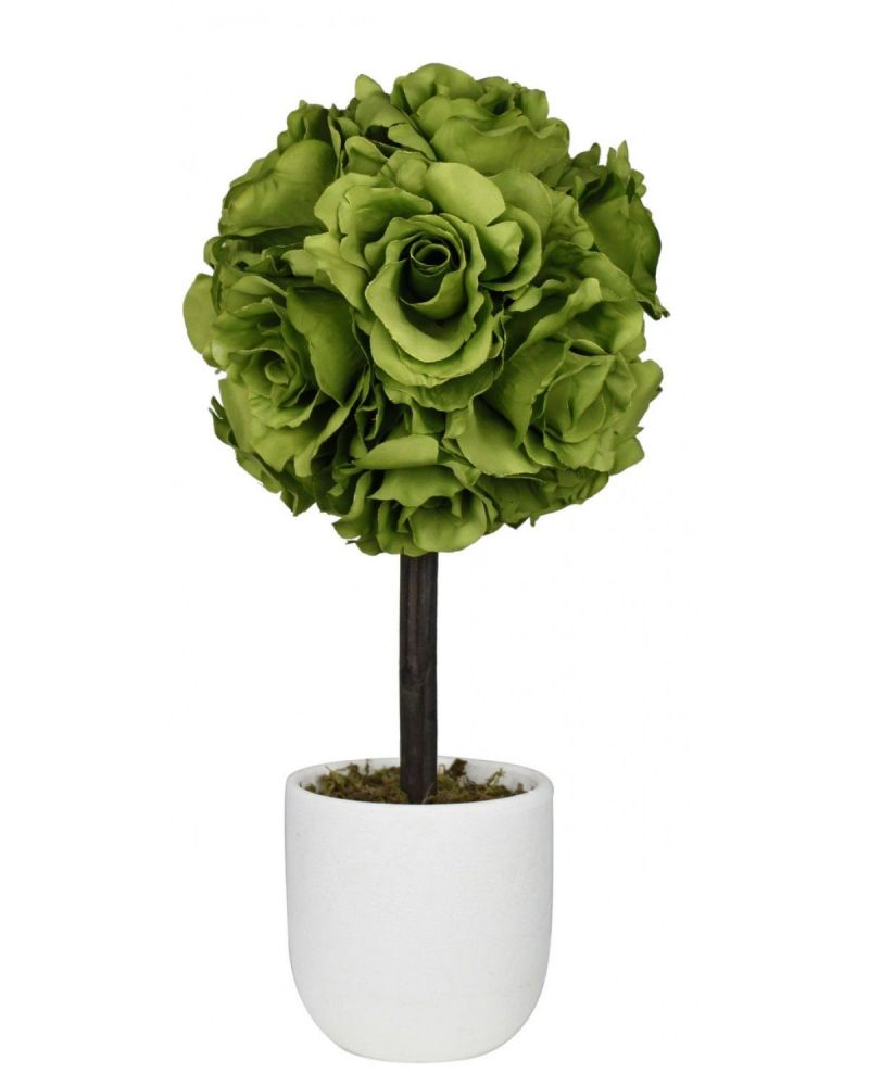 Vintage Summers Green Rose Topiary Tree