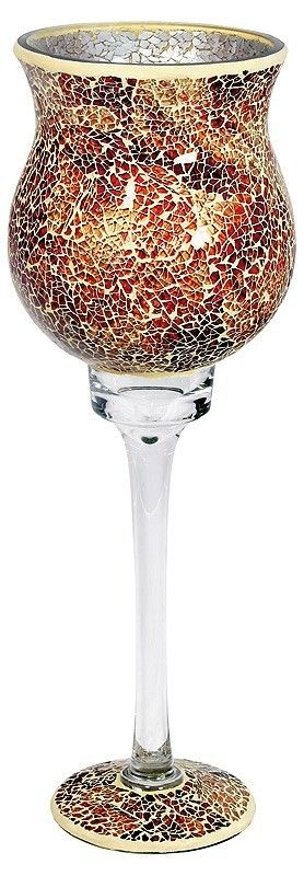 Orange Mosaic Goblet