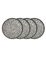 Black Mosaic Coasters