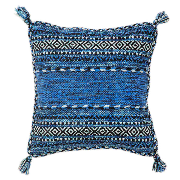 Pair of Kelim Blue Cushion Covers