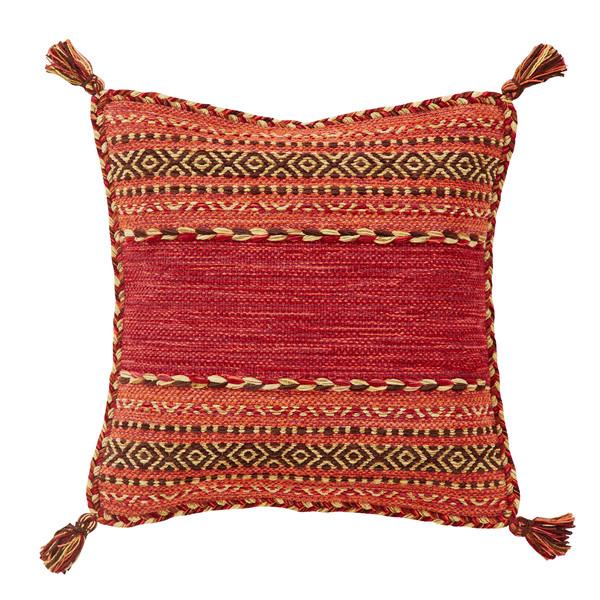 Pair of Kelim Red Cushion Covers