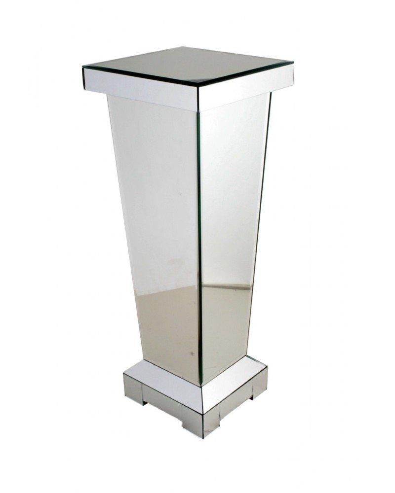 60cm Mirrored Pedestal Table