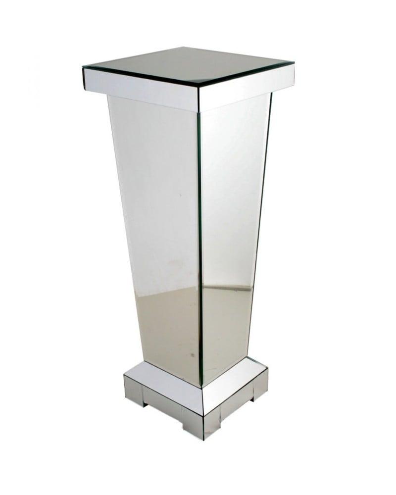 60cm Mirrored Pedestal Table