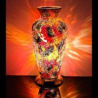 Orange red Mosaic Vase Lamp