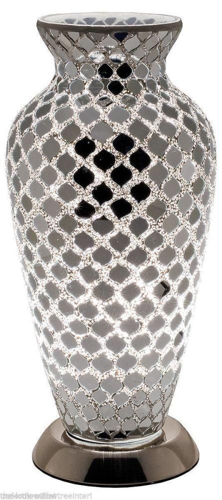 Crackle Mirror Mosaic Vase Lamp