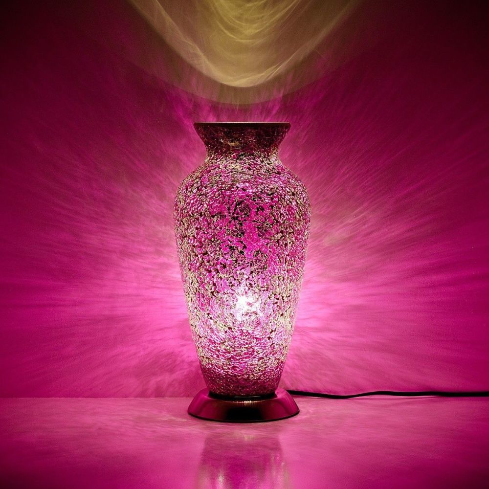 Pink Mosaic Vase Lamp