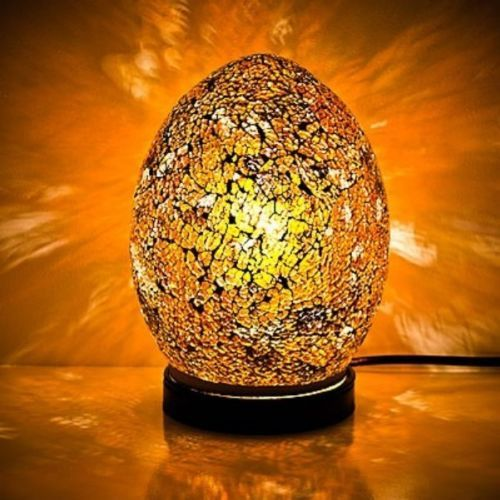 Yellow Gold Mosaic Mini Egg Lamp