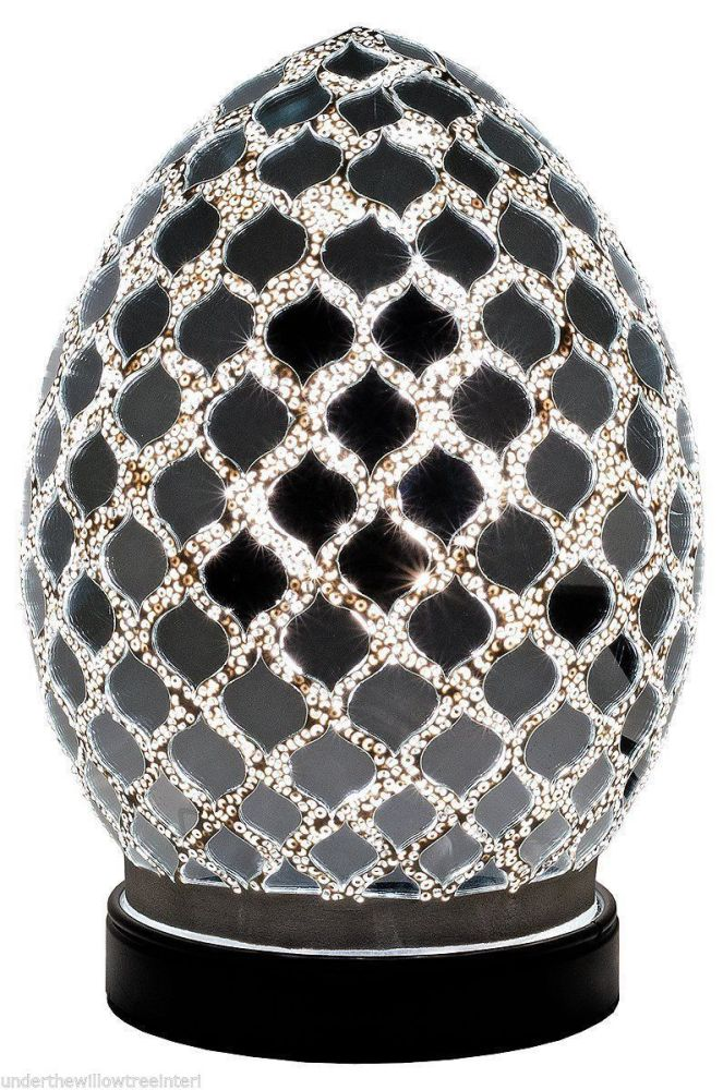 Crackle Mirror Mosaic Mini Egg Lamp