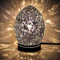Black Mosaic Mini Egg Lamp