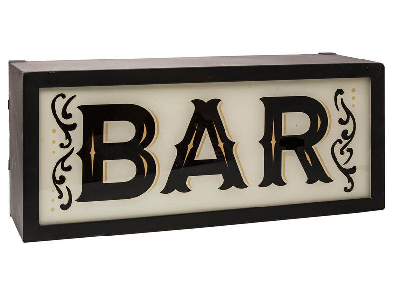 Bar Light Up Box Sign