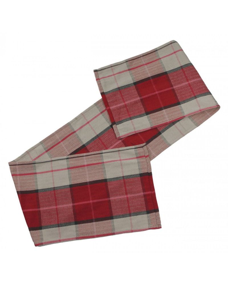 Red Tartan Table Runner 220cm