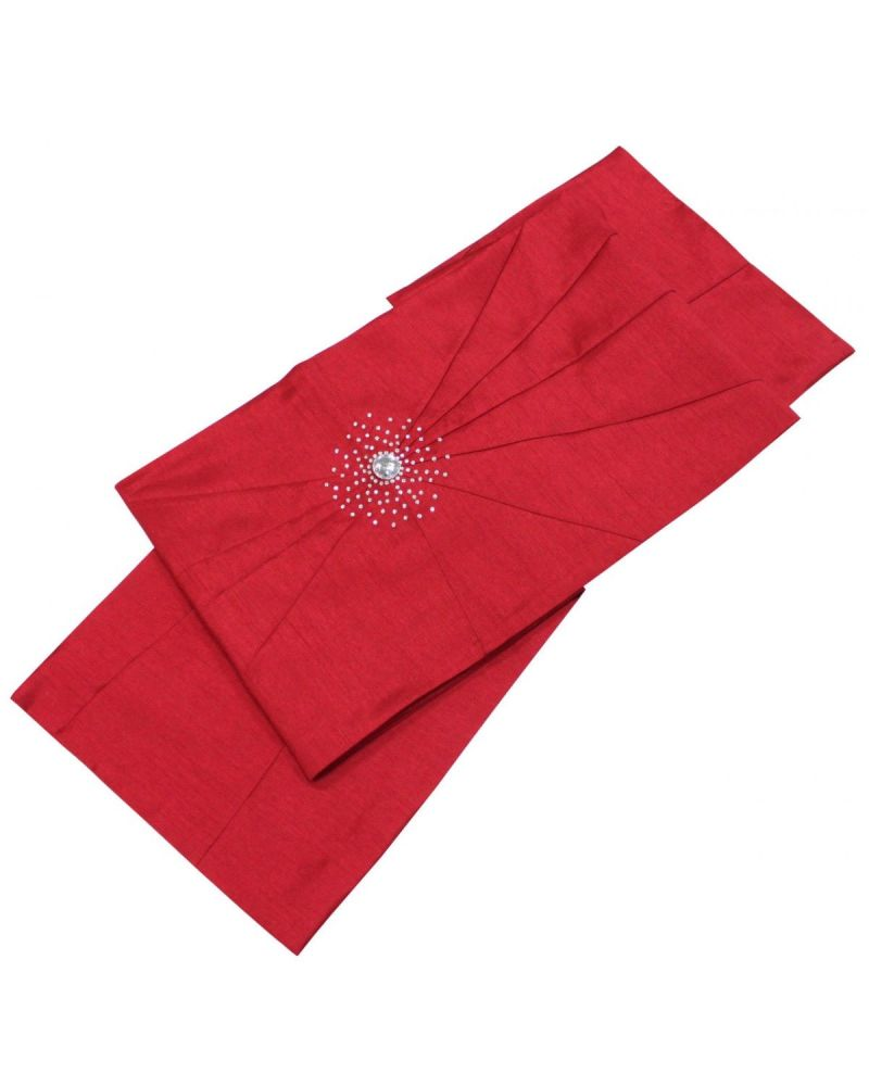 Red Hot Chilli Table Runner Starburst with Diamantes 180cm