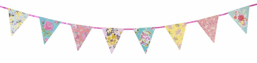 floral bunting banner