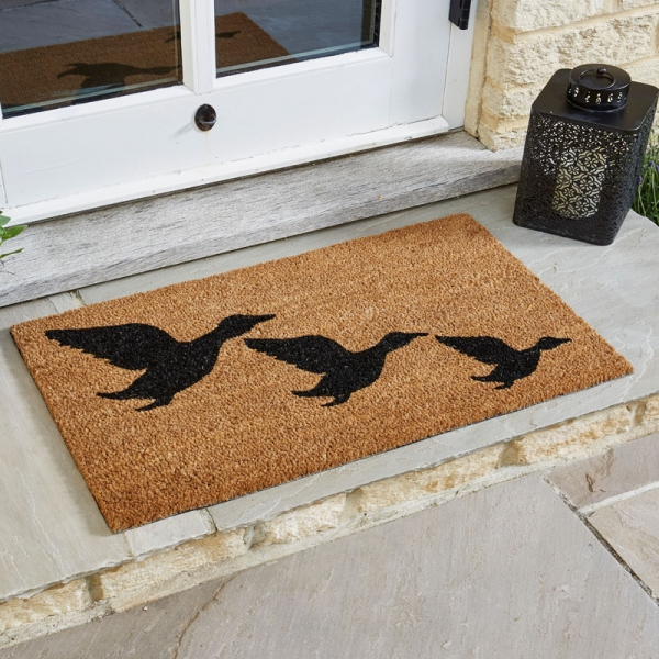 Flying Geese Coir Doormat