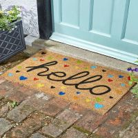 Hearty Hello Coir Doormat