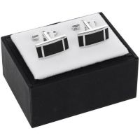 Equilibrium Black Rectangle Cufflinks