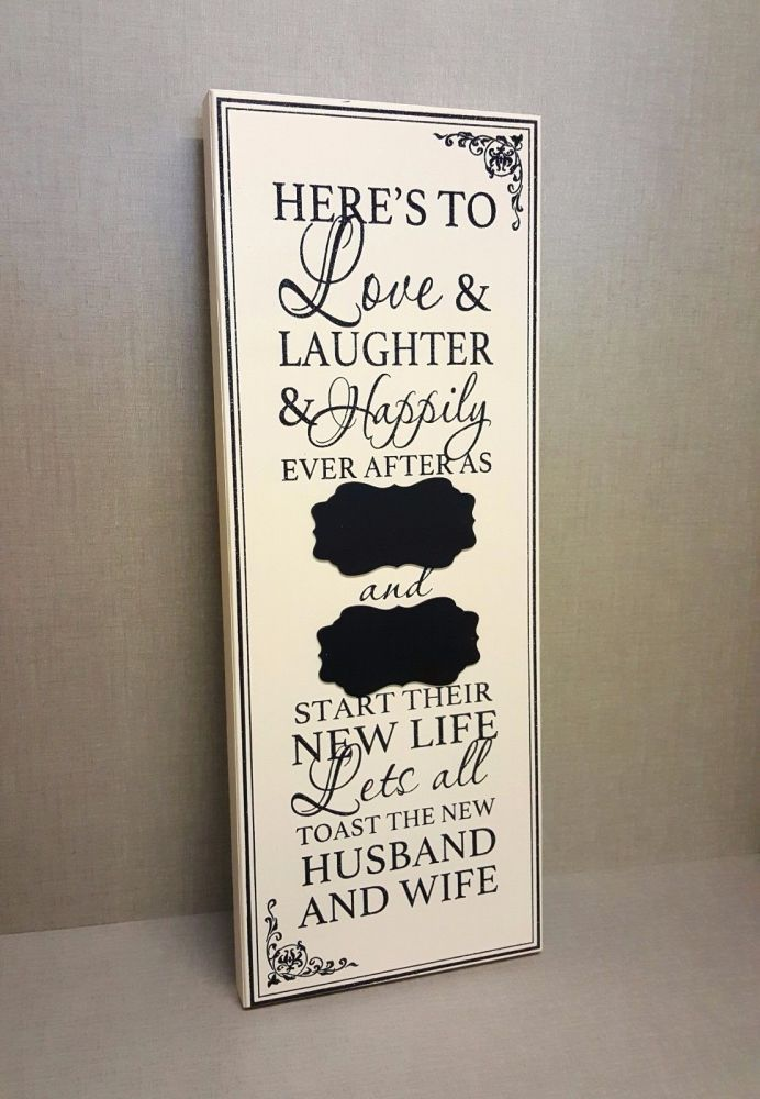 Large Wedding Chalkboard Sign