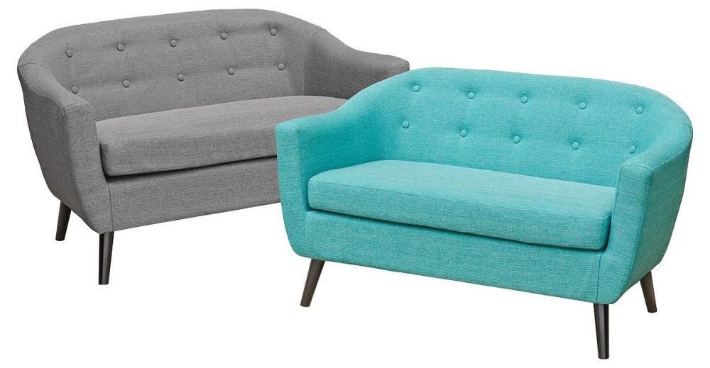 Cleo 2 Seater Sofa - Teal or Grey
