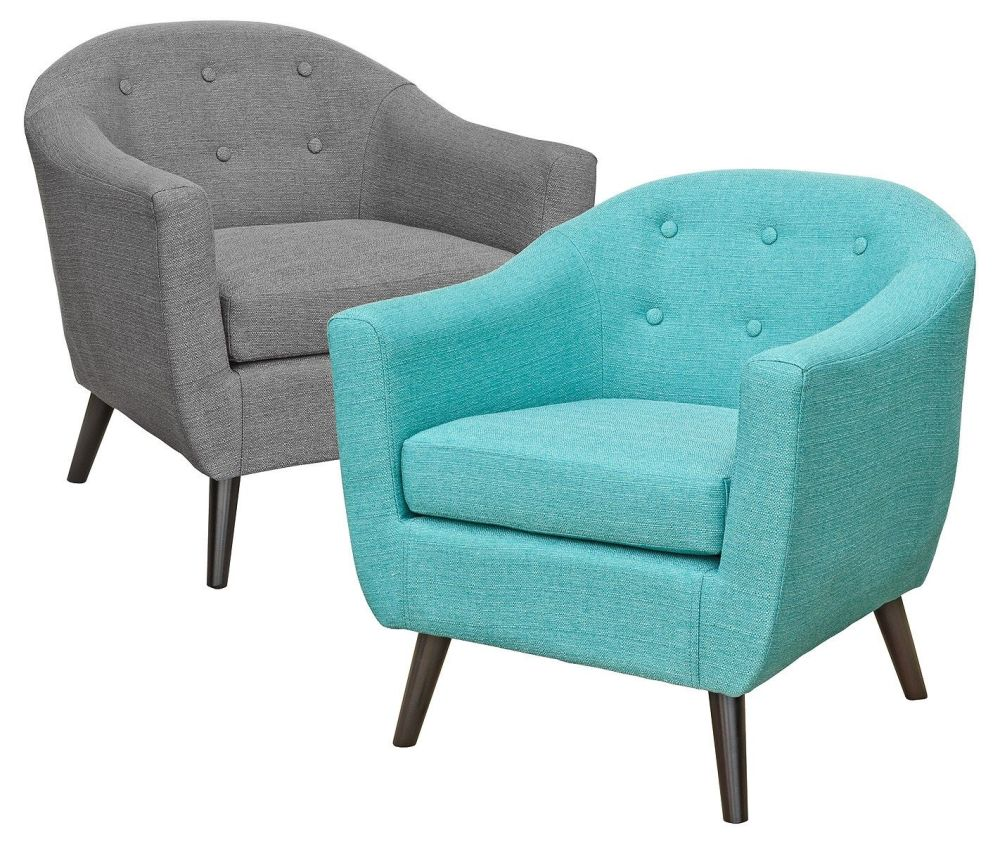Cleo Tub Chair - Teal or Grey