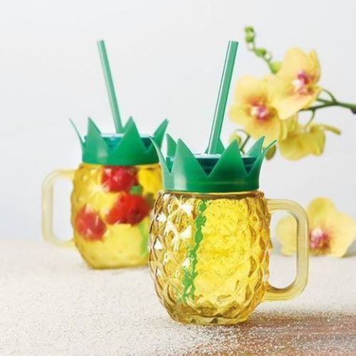 Pineapple Mason Drinking Glass