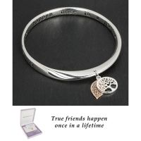 Equilibrium Tree of Life Silver Plated Bangle