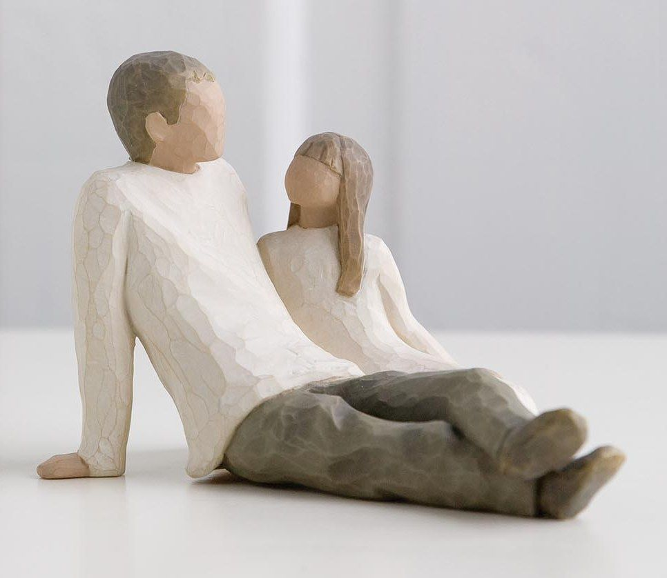 Willow Tree - Father and Daughter Figure
