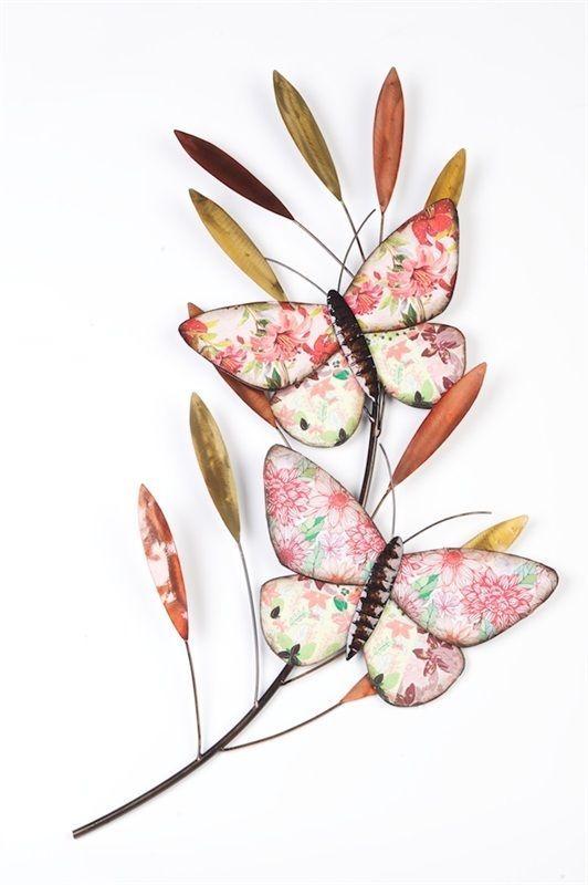 Butterflies on Branch Wall Art