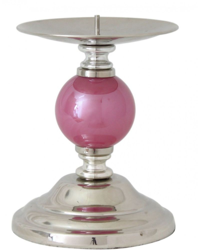 Pink Pearl One Ball Candlestick