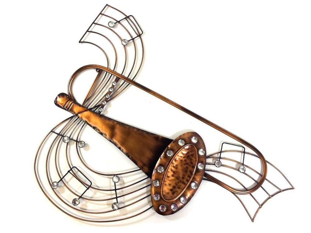 Musical Notes Trombone Wall Art