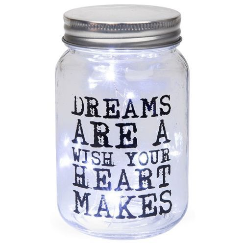 Dreams are a wish... LED Firefly Jar