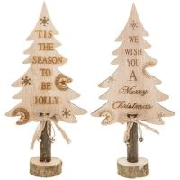 Pair of Christmas Craft Message Trees Small