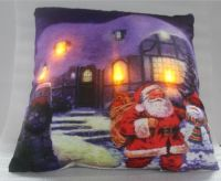Santa Visit LED Light-up Cushion Winter Scene Christmas