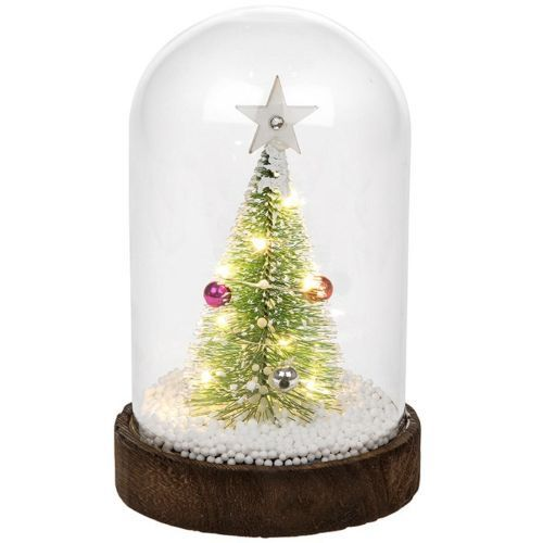 LED Glass Dome Christmas Tree Scene