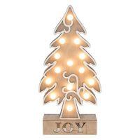 Large Wooden Soft Glow LED Xmas Joy Tree