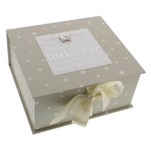 Twinkle Twinkle Little Star Baby Keepsake Memory Box