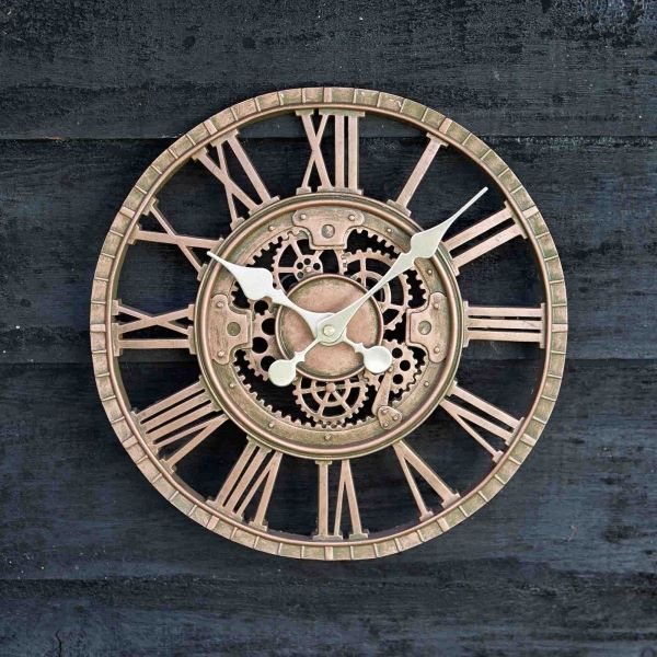 Outdoor Mechanical Cog Wall Clock