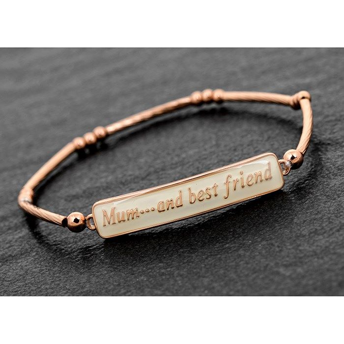 Equilibrium Mum Enamel Rose Gold Plated Bracelet