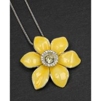Equilibrium Yellow Daffodil Necklace