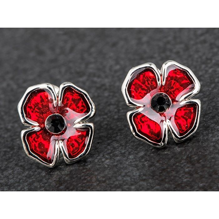 Equilibrium Poppy Stud Silver Plated Earrings