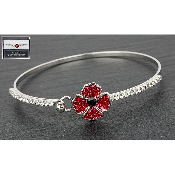 Equilibrium Poppy Delicate Silver Plated Bangle