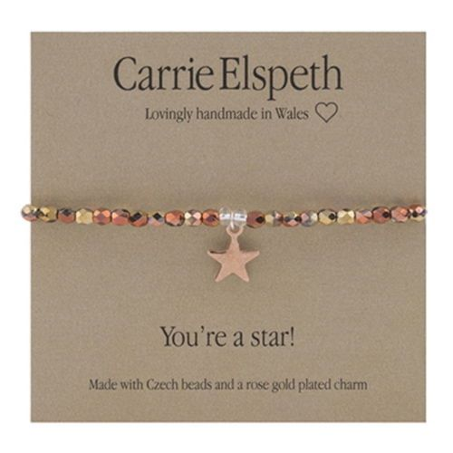 "Carrie Elspeth Bracelet ""You're a Star"" Star Rose Gold Gift Card"