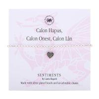 Carrie Elspeth Bracelet 'Calon Lan, Calon Onest, Calon Hapus' Gift Card Wales