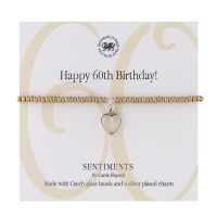 Carrie Elspeth Bracelet 'Happy 60th Birthday' Sentiment Gift Card