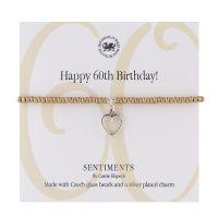 Carrie Elspeth Bracelet 'Happy 60th Birthday' Sentiment Gift Card
