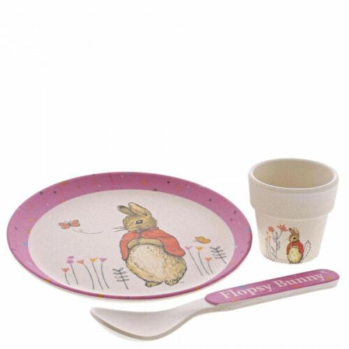 Peter Rabbit Flopsy Bamboo Egg Cup Dinner Set