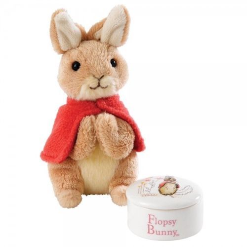 Border Fine Arts Flopsy Trinket Box and Soft Toy Gift Set