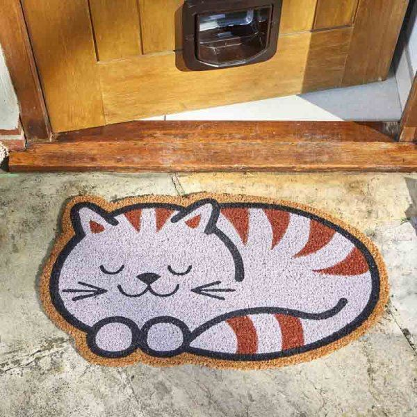 Cheshire Cat Coir Doormat